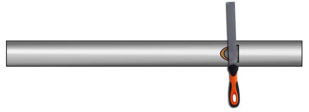tubo con insicion
