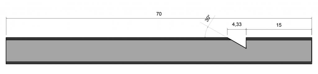 tubo de metal de 70 milimetros
