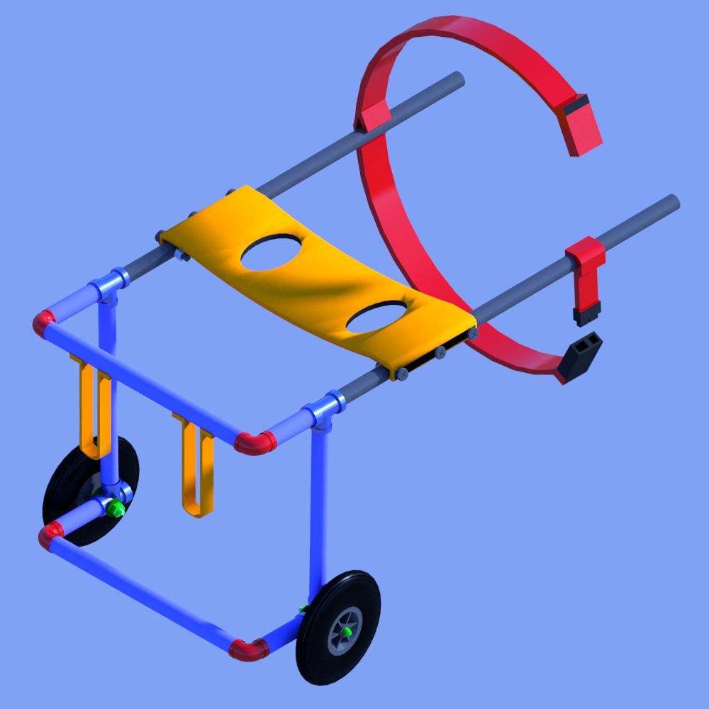 silla de ruedas para perros artesanal